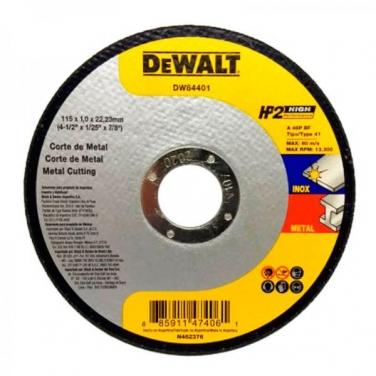 Disco de Corte Metal Dewalt DW84401 4 1/2