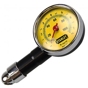 Manómetro de Cuadrante para Neumaticos Stanley 79-052 Presión 10 a 100 psi