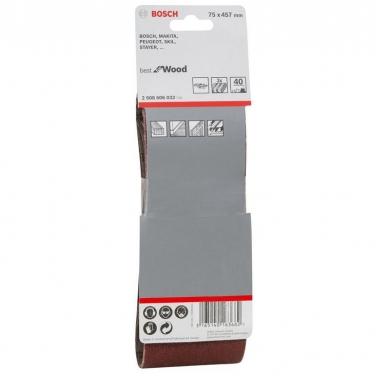 Lija de Banda Pack 3 Unidades 75x457mm Bosch  GR 40