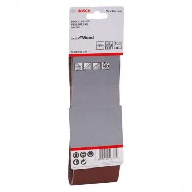 Lija de Banda Pack 3 Unidades 75x457mm Bosch  GR 100