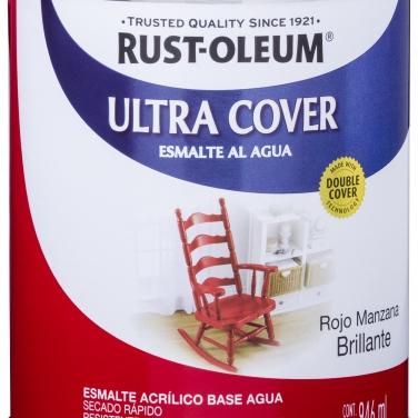 Pintura Multiusos Rust-Oleum Ultra Cover Esmalte Al Agua Rojo Manzana Brillante