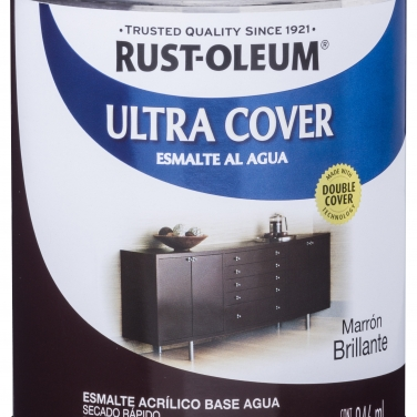 Pintura Multiusos Rust-Oleum Ultra Cover Esmalte Al Agua Marrón Brillante