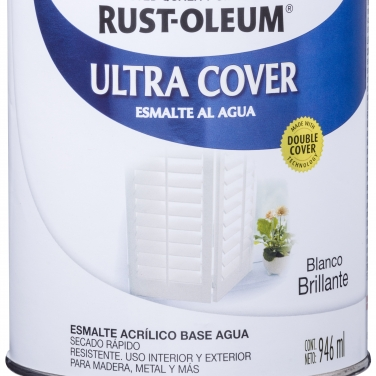 Pintura Multiusos Rust-Oleum Ultra Cover Esmalte Al Agua Blanco Brillante