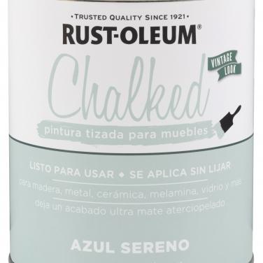 Pintura Tizada Rust-Oleum Chalked Brochable Azul Sereno Base Agua Mate