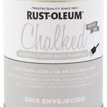 Pintura Tizada Rust-Oleum Chalked Brochable Gris Envejecido Base Agua Mate