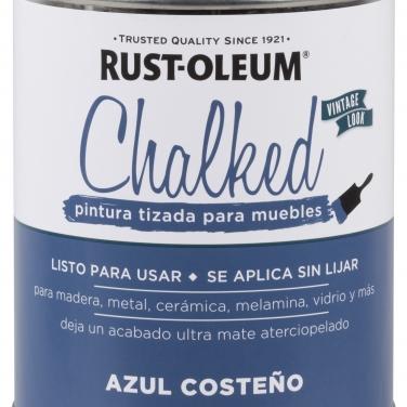 Pintura Tizada Rust-Oleum Chalked Brochable Azul Costeño Base Agua Mate