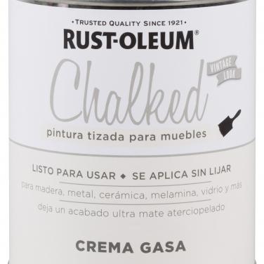 Pintura Tizada Rust-Oleum Chalked Brochable Crema Gasa Base Agua Mate