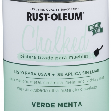 Pintura Tizada Rust-Oleum Chalked Brochable Verde Menta Base Agua Mate