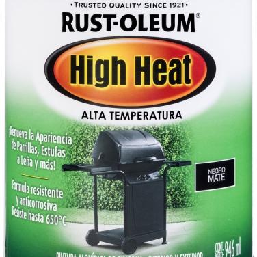 Pintura Espcialidades Rust-Oleum Specialty Alta Temperatura Negro Mate Alta Temperatura