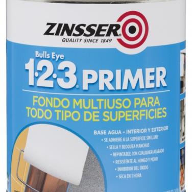 Primers Zinsser Rust-Oleum Blanco Mate Base Agua 1-2-3