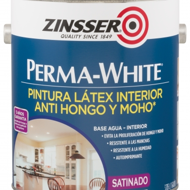 Primers Zinsser Rust-Oleum Blanco Satinado Base Agua Perma-White