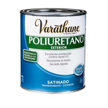 Cuidado De La Madera Rust-Oleum Varathane Poliuretano Exterior Satinado Base Agua