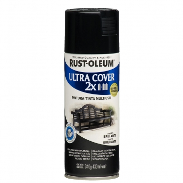 Pintura Multiusos Rust-Oleum Ultra Cover 2X Negro Brillante