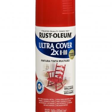 Pintura Multiusos Rust-Oleum Ultra Cover 2X Rojo Manzana Brillante