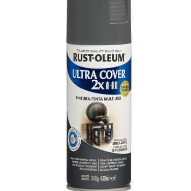 Pintura Multiusos Rust-Oleum Ultra Cover 2X Gris Oscuro Brillante