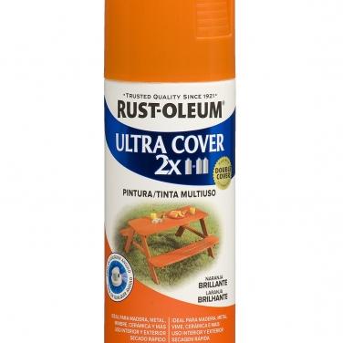 Pintura Multiusos Rust-Oleum Ultra Cover 2X Naranja Brillante