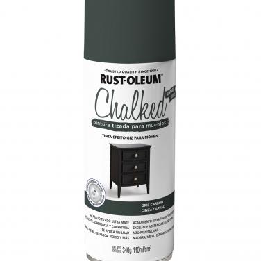 Pintura Tizada Rust-Oleum Chalked Aerosol Gris Carbón Mate