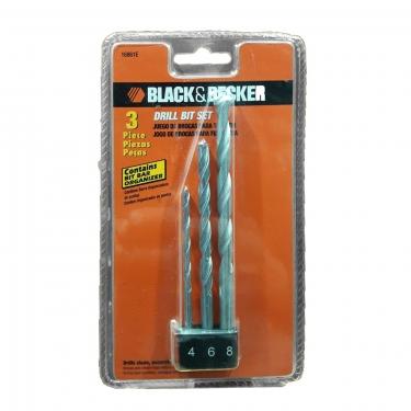 Set de 3 brocas concreto Black&Decker 16861E 4/6/8