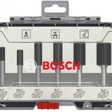 Set de fresas rectas Bosch 2607017467 6Pzas