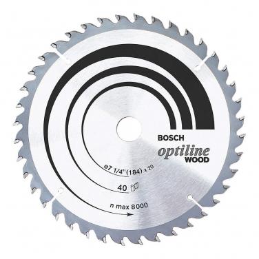 Disco Sierra Circular Para Madera Optiline Bosch 2608640847 7 1/4 Pulgadas