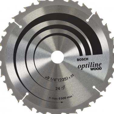 Disco Sierra Circular para madera Optiline Bosch 2608640885 9 1/4 Pulgadas
