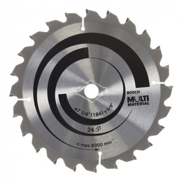 Disco de Sierra Circular Multimaterial de 71/4 Bosch 2608640942 7 1/4 Pulgadas