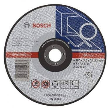 Disco de Corte Recto Para Metal Bosch 2608600321 7 x 7/8 Pulgadas
