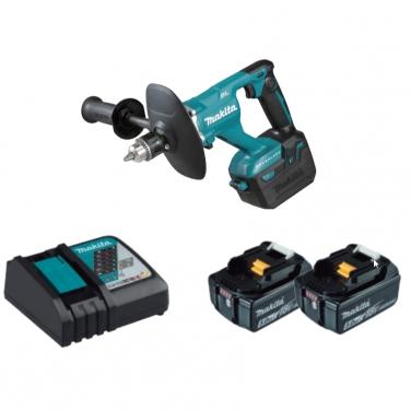 Mezcladora Inámbrica + 2 Batería 5.0Ah y Cargador Makita DUT131RTE