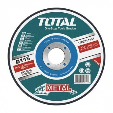 Disco de Corte Metal Abrasivo Total  9 x 1.6 mm