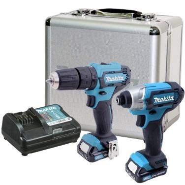 Kit Taladro Atornillador + Atornillador de Impacto Makita CLX224SAX 12V