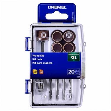 Kit para madera Dremel 733 20pzas