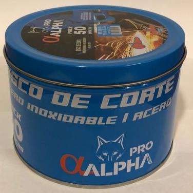 Disco de Corte 4 1/2 X 1.0 Extra Fino ALPHA  50 unidades