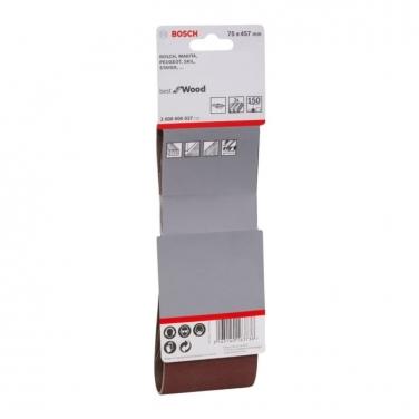 Lija de Banda Pack 3 Unidades 75x457mm Bosch  GR 150