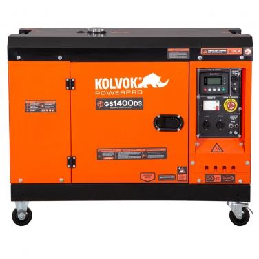 Generador eléctrico a diesel insonoro 11200W Kolvok