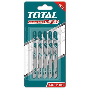 Set de Hojas para Sierra Caladora (Metal) Total TAC51118B 5 Pzas
