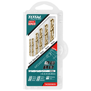 Juego de Brocas para Metal HSS Total TACSD0605 6PCS