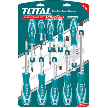 Juego de Destornilladores Total THT250610 10PCS
