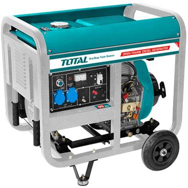 Generador Eléctrico a Diésel 5000 W Total TP450001 Arranque Eléctrico