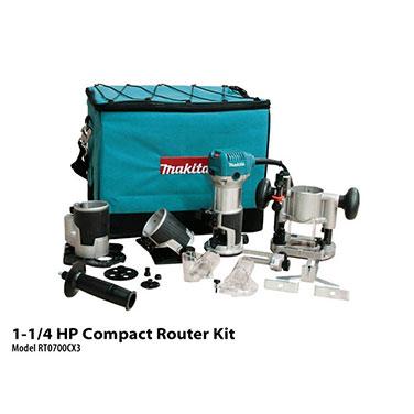 Fresadora c/base Makita RT0700CX3 710 W