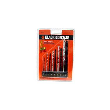 Set de 8 brocas metal y concreto Black&Decker 15557E