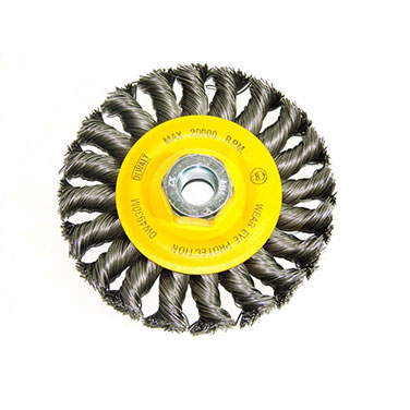 Grata rueda plana 4 trenzada M14 alambre carbono 0.020