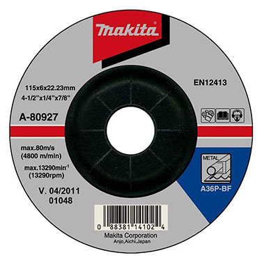 DISCO DESBASTE METAL 4-1/2 (115*6*22.23) A36P. - Makita