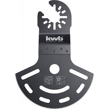 Hoja de sierra de inmersion de corte profundo. semiredonda. bimetal - KWB