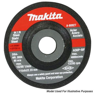 DISCO DESBASTE METAL 4-1/2 (115 X 6 X 22.23 mm.) C.D. / A24R-BF - Makita DISCO DE DESBASTE ACERO 125MM PARA TRABAJO PESADO