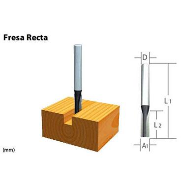 FRESA 1/4 X 3/4 RECTA 2 FILO TOMA 1/2 - Makita 2 FILOS  3/16 X 7./16 EJE 1/4