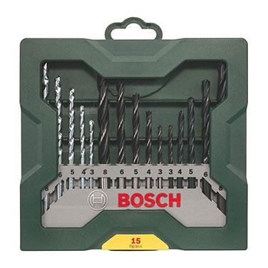 Mini Juego de Brocas X-Line Mezcladas Compuesto por 15 Piezas Bosch Bosch X-Line Brocas Mezcladas