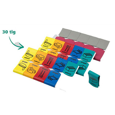 30 Clips Para Marcar Cajas De Transporte WOLFCRAFT 5545000 30 Clips Para Marcar Cajas De Transporte