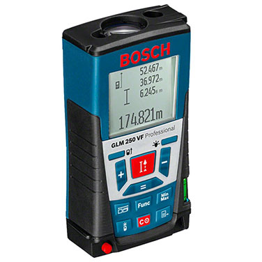 Medidor distancia láser Bosch GLM 250 VF Alimentación de tensión 4 x 1.5 V-V- LR03 (AAA)