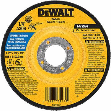 Disco desbaste Ac. Inox. 4 1/2 x 1/4 x 7/8