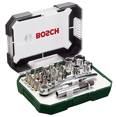 Set  Ratchet Bosch 2607017322 26 Pcs